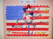 "Preschool is a ""Blast""! - Patriotic Bulletin Board Idea"
