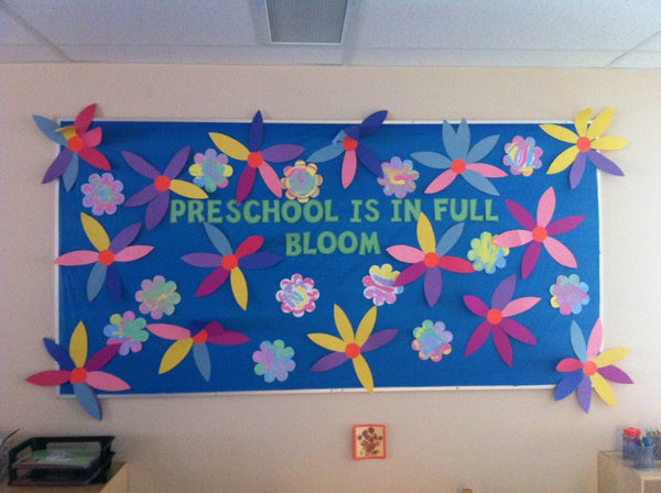 Preschool Is In Full Bloom Spring Bulletin Board Supplyme