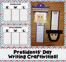 2 Writing Activities & Crafts for Presidents' Day (with FREEBIES)!