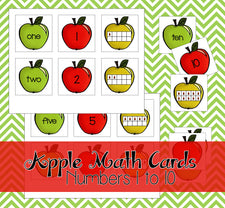 Printable Apple Math Cards
