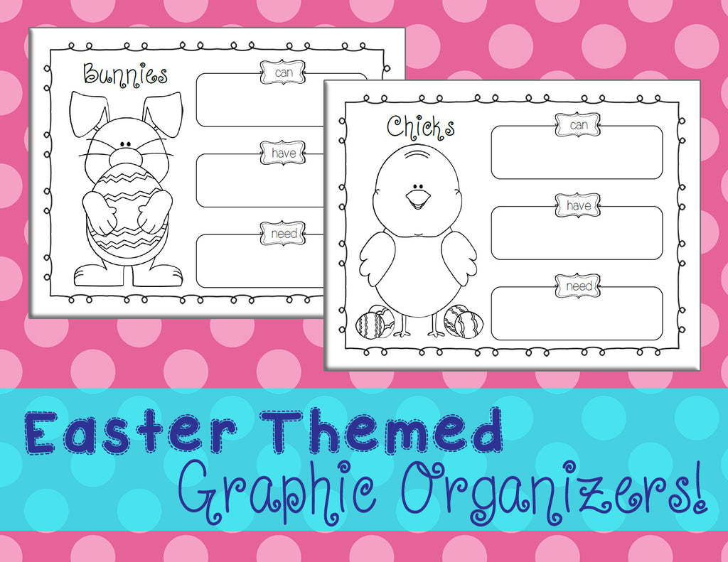 Bunnies & Chicks - Printable Easter Graphic Organizers