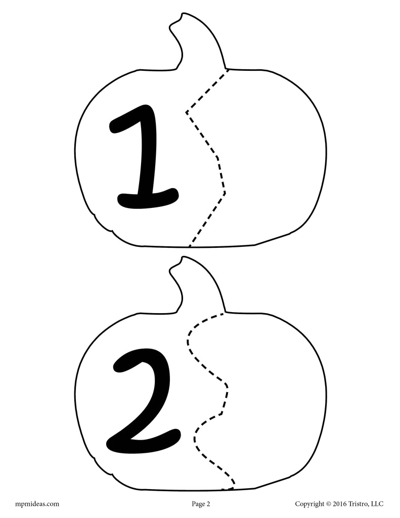 picture about Free Printable Number Puzzles called Pumpkin Seed Selection Puzzles\