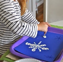 Winter Q-tip Painting - Snowflakes, Christmas Trees, & More!