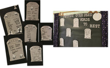 Putting Overused Words To Rest! - Halloween Writing Bulletin Board