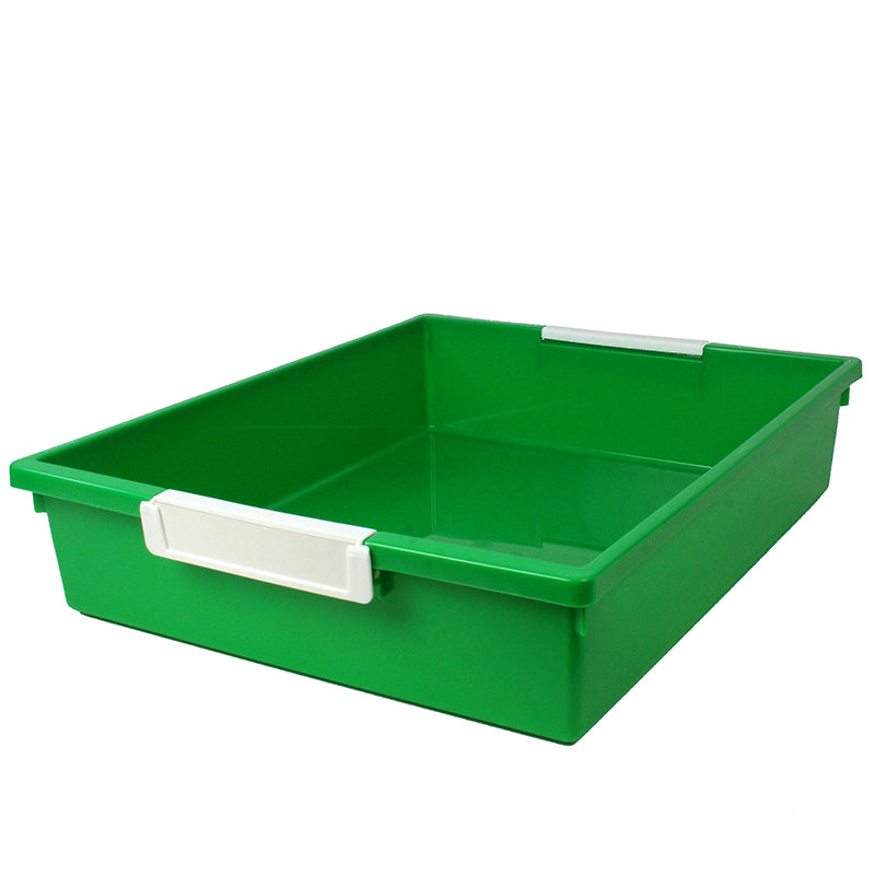 6 Quart Tattle Tray with Label Holder, Green