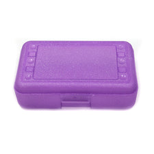 Pencil Box, Purple Sparkle