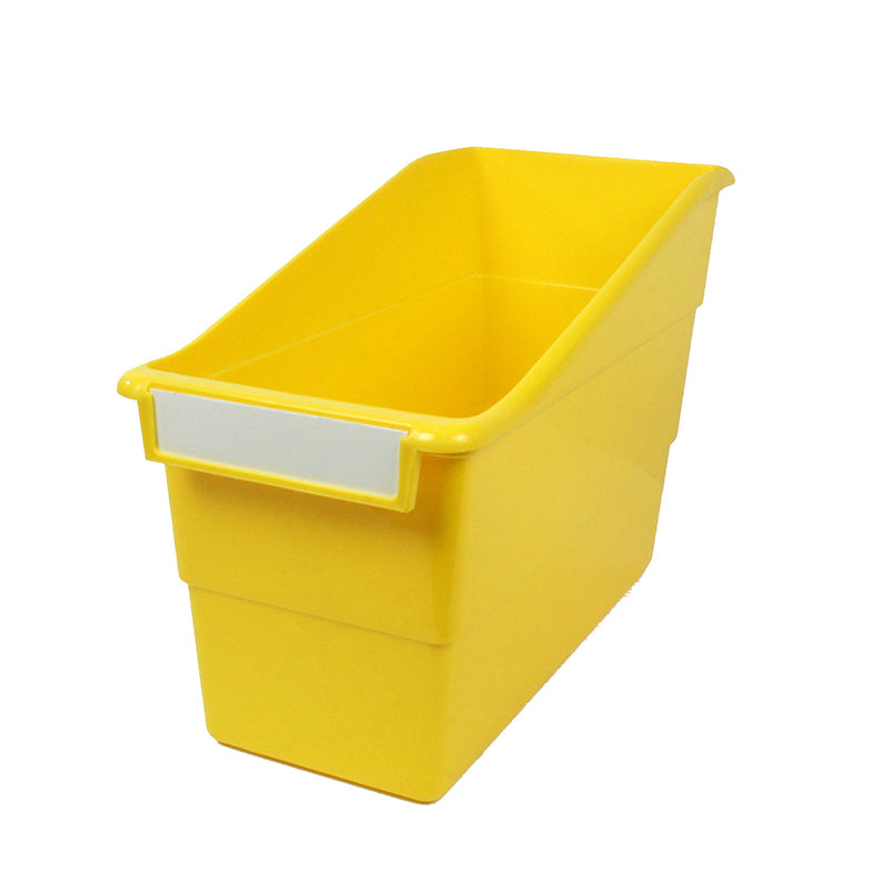 Standard Shelf File with Label Holder, Yellow