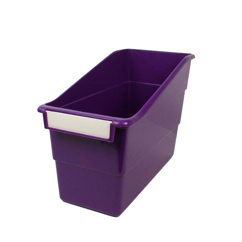 Standard Shelf File with Label Holder, Purple