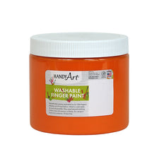Handy Art Orange 16 Oz Washable Finger Paint