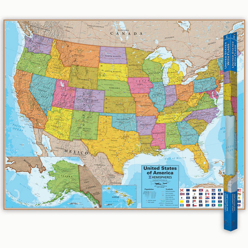 Blue Ocean Series United States Wall Map