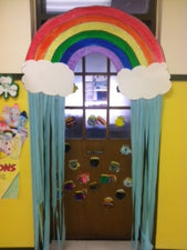 St. Patrick's Day Rainbow Door Display