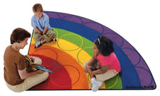 Rainbow Rows Colorful Classroom Rug, 6' Corner