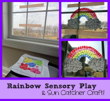 Rainbow Sensory Play & Sun Catcher Craft