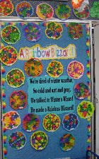 "Wishing For Spring ""Rainbow Blizzard"" Classroom Display"