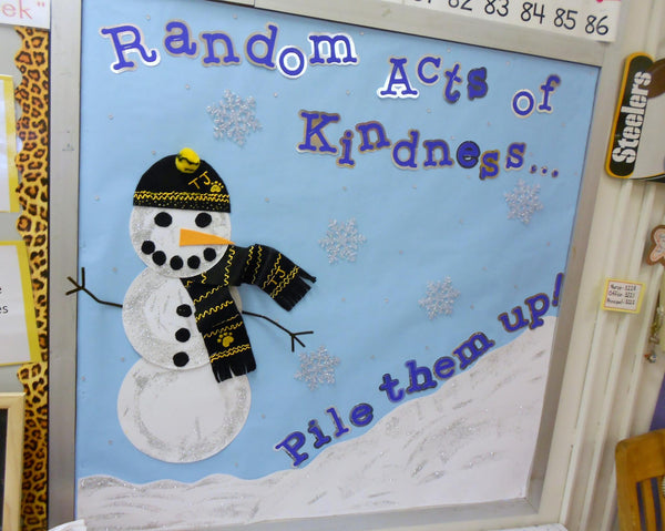 Random Acts Of Kindness Pile Them Up Winter Bulletin