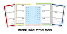 Read! Build! Write! Vocabulary/Activity Mats