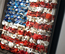 Recycled American Flag - Patriotic Bulletin Board Display