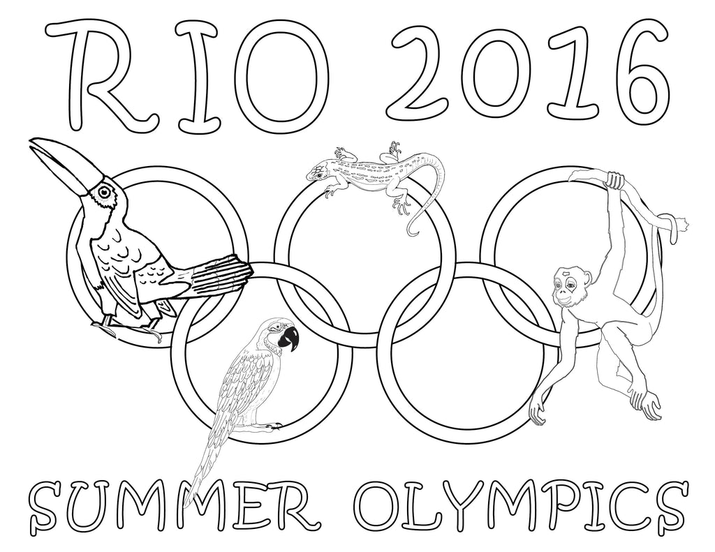 8 free printable olympic coloring pages