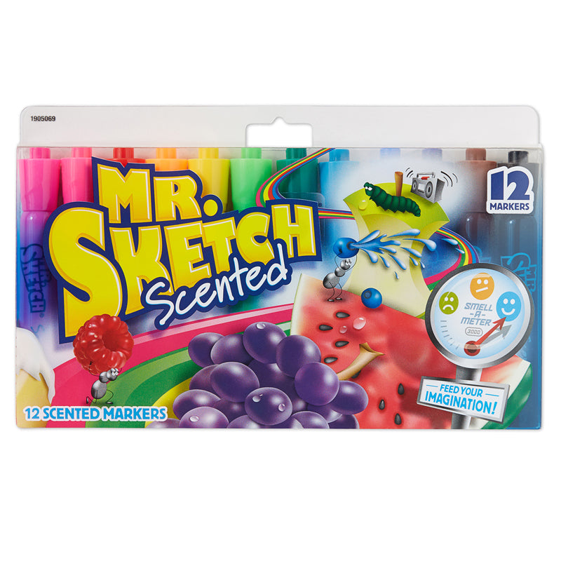 Mr. Sketch Scented Chisel Tip Markers, 12 Count