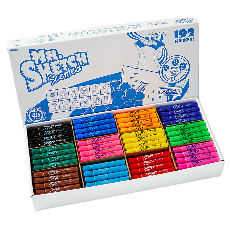 Mr. Sketch Scented Chisel Tip Markers, 192 Count