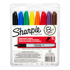 Sharpie Permanent Fine Point 8-Set Marker Set