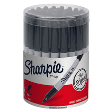 Sharpie Fine Black 36 Count Canister