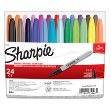 Sharpie Fine Felt Point 24 Color Set Markers
