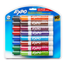 Expo Low Odor Dry Erase Chisel Tip Markers, 16 Color Set