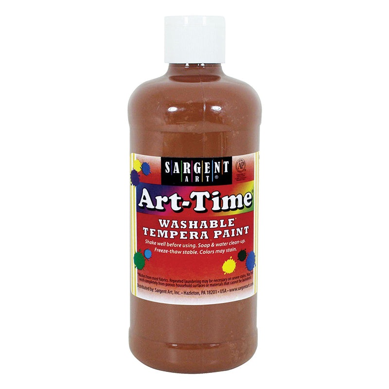 Sargent Art ® Washable Tempera Paint, 16 Oz. Brown