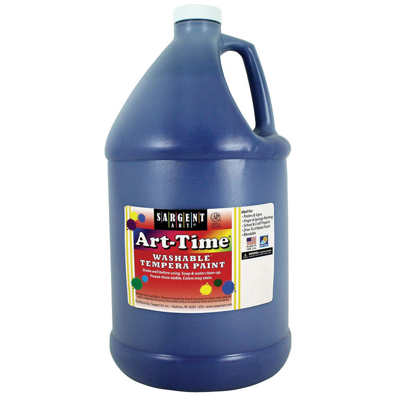 Sargent Art ® Washable Tempera Paint, 1 Gallon Blue