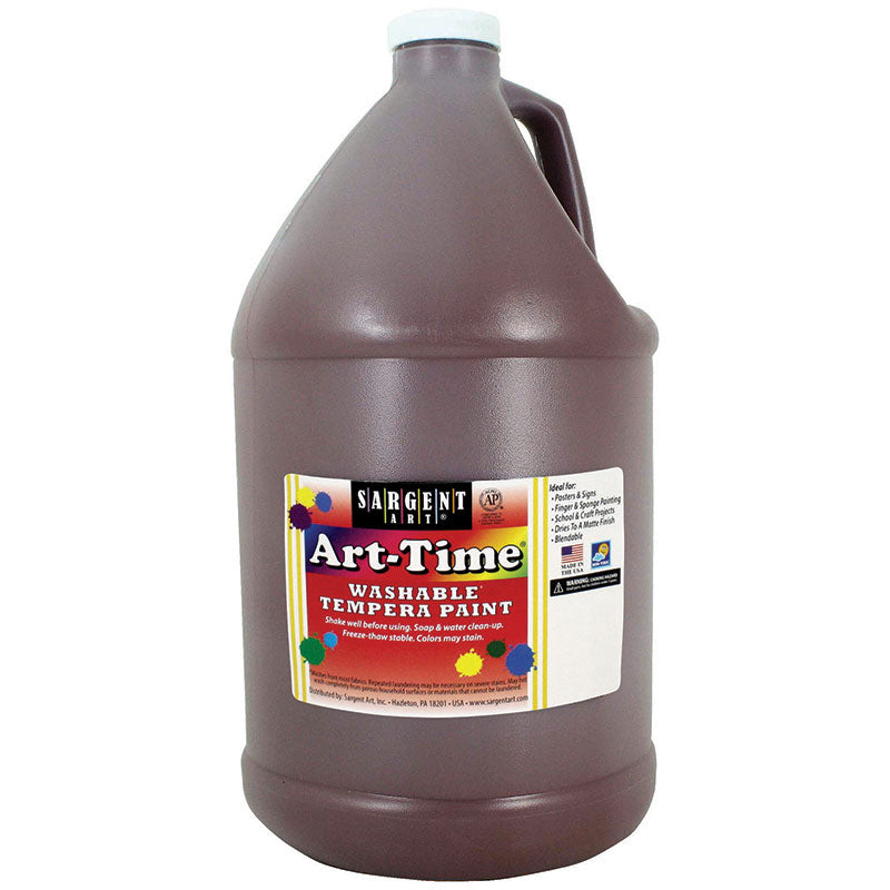 Sargent Art ® Washable Tempera Paint, 1 Gallon Brown