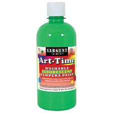Sargent Art Art-Time® Washable Fluorescent Tempera Paint, 16 Oz Green
