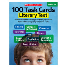 100 Task Cards: Literary Text, Grades 4-6