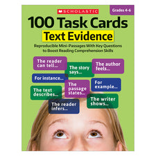 100 Task Cards: Text Evidence, Grades 4-6