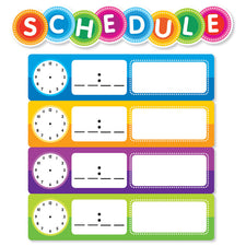 Color Your Classroom: Schedule Mini Bulletin Board Set