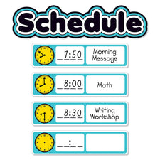 Aqua Oasis: Schedule Mini Bulletin Board Set