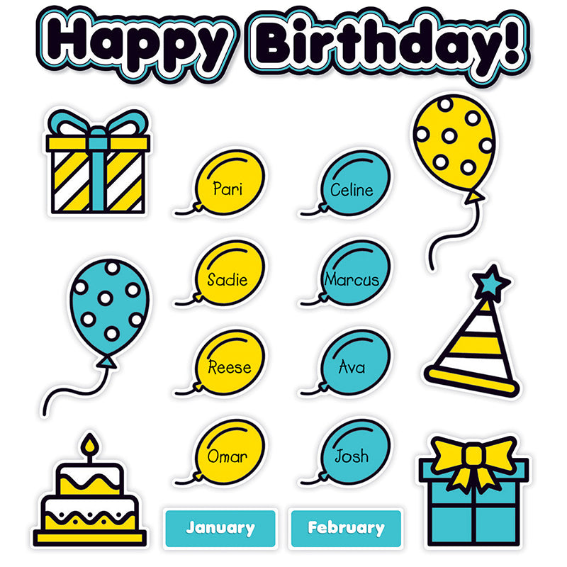 Aqua Oasis: Birthday Graph Bulletin Board Set