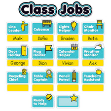 Aqua Oasis: Class Jobs Mini Bulletin Board Set