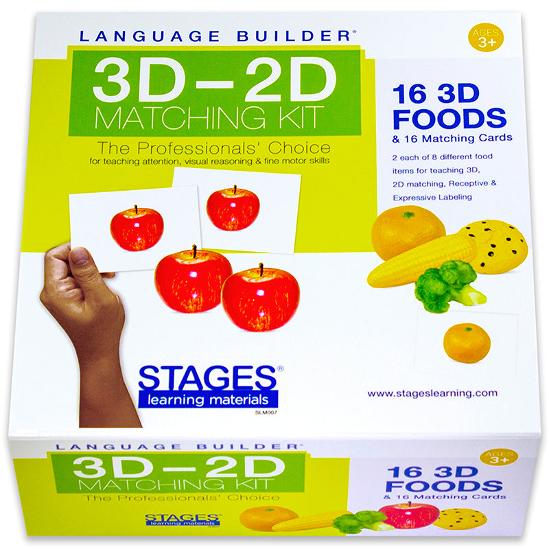 Language Builder: 3D - 2D Food Matching Kit