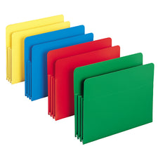 Poly File Pockets 11-3/4W x 9-1/2H 4 Colors