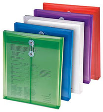 Poly Color Envelopes 5Pk Assorted Colors