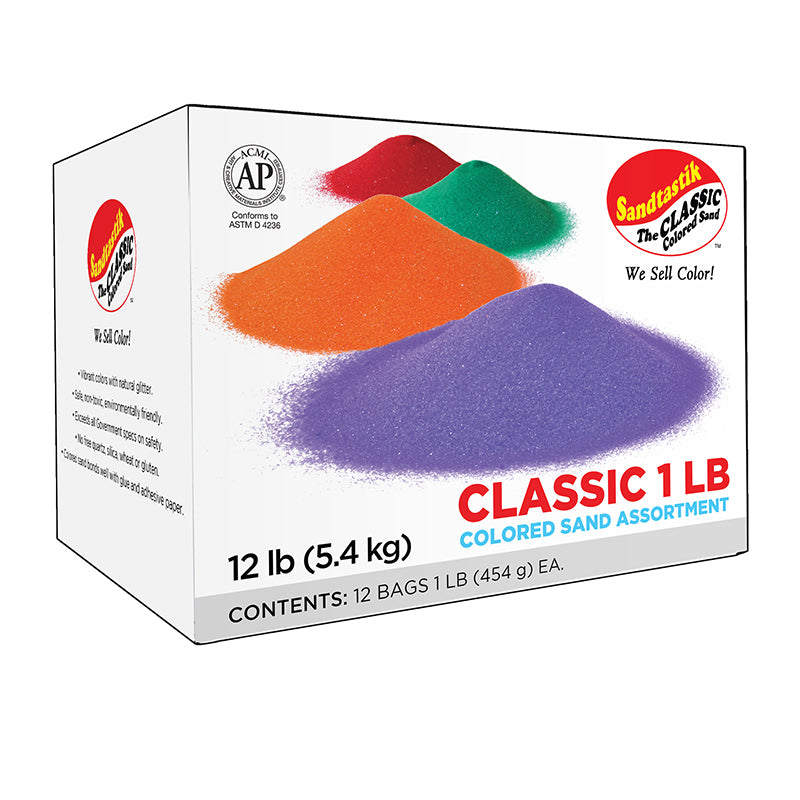 Class Pack 1: 12-Color Rainbow Sand Assortment