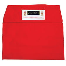 Red Seat Sack, Standard Size 14 Inch Chair Storage Pocket