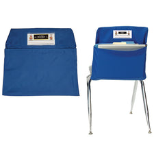 Blue Seat Sack, Medium Size 15 Inch Chair Storage Pocket