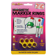 Magnetic Marker Rings, 6Pk (Fits Thin Barrel Markers)