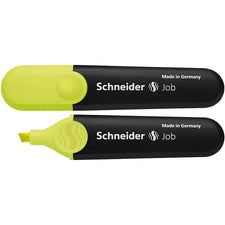 Schneider Job Highlighters, Chisel Tip (Fluorescent Yellow)