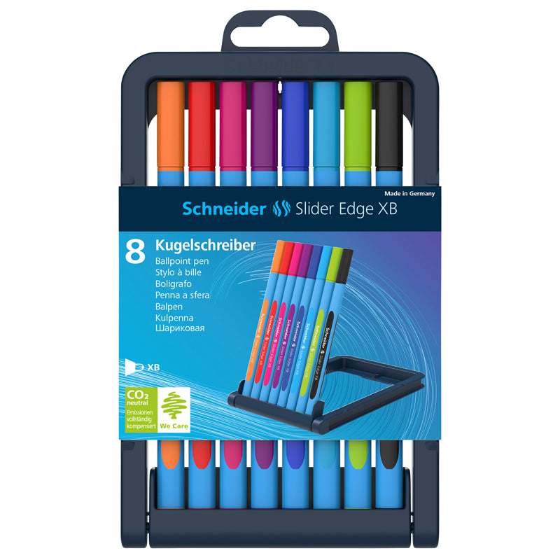 Schneider Slider Edge XB Ballpoint Pens, 8 Count Assorted