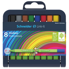 Schneider Link-It 4mm Fiber Pen, 8 Pack Assorted