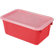 Small Cubby Bin with Cover, Red