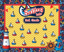 """Sailing Into Third Grade!"" Nautical Themed Welcome Board"